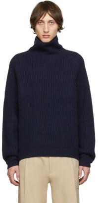 Acne Studios Navy Kally Sporty Wool Rib Knit Turtleneck