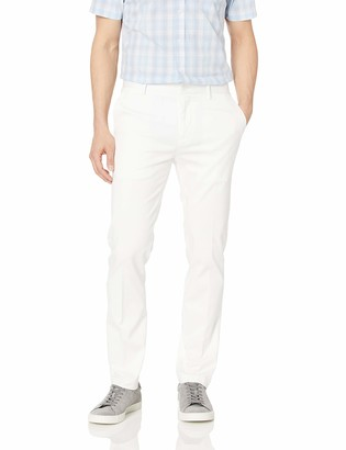 Perry Ellis Men's Slim Fit Stretch Resist Spill Twill Pant