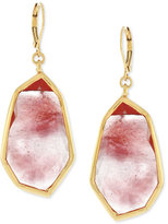 Vince Camuto Rose Gold-Tone Pink Stone Drop Earrings