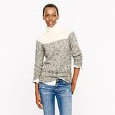 J.Crew Colorblock wool turtleneck sweater