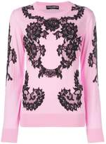 Dolce & Gabbana lace applique jumper