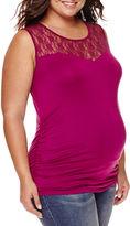 Asstd National Brand Maternity Garment Dye Lace Tank Top - Plus