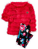 Juicy Couture Infant Girls) Two-Piece Eyelash Knit Pullover & Velvet Leggings Set