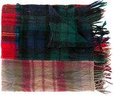 Comme des Garcons patchwork tartan scarf