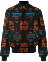 Marcelo Burlon County of Milan 'Pendleton' bomber jacket - men - Cotton/Leather/Polyamide/Virgin Wool - M