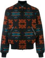 Marcelo Burlon County of Milan 'Pendleton' bomber jacket - men - Virgin Wool/Polyamide/Cotton/Polyester - M