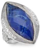 Jude Frances Encore Silver Crystal & Sterling Silver Large Marquise Stone Moroccan Ring