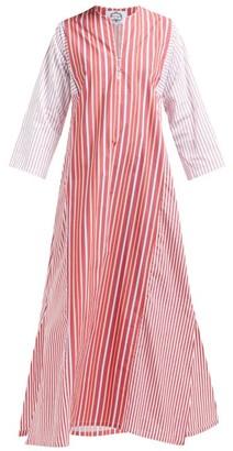 Evi Grintela Novella Striped Cotton Kaftan - Womens - Red