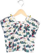 Stella McCartney Girls' Bird Print Gathered Top