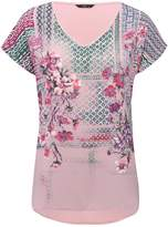 M&Co Woven front floral top