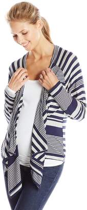 Everly Grey Women's Maternity Graham Long Sleeve Drape Front and Nursing Jacket