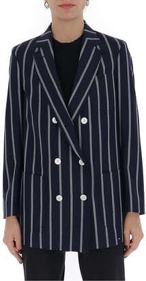 Thom Browne Striped Double Breasted Blazer