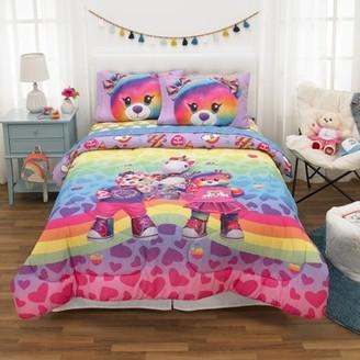 Build A Bear Build-A-Bear Bed in a Bag Bundle Set, Kids Bedding, Super Soft Comforter and Sheet Set, 5 Piece FULL Size