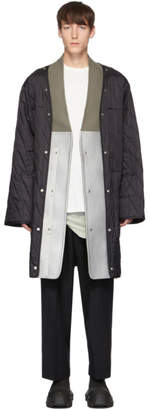 Rick Owens Black Insert Quilted Parka