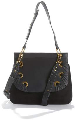 Nat & Nin Vittoria Flap Handbag with Eyelet Detail