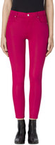 J Brand Alana High-Rise Cropped Super Skinny In Coated Dizzy Pink