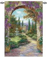 "Paradise Fountain 56"" x 80"" Woven Tapestry"