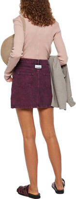 Ganni Acid-wash Denim Mini Skirt