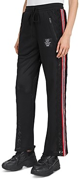 The Kooples Lace-Inset Mesh Track Pants