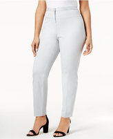 Alfani Plus Size Seamed-Waist Skinny Pants, Only at Macy's
