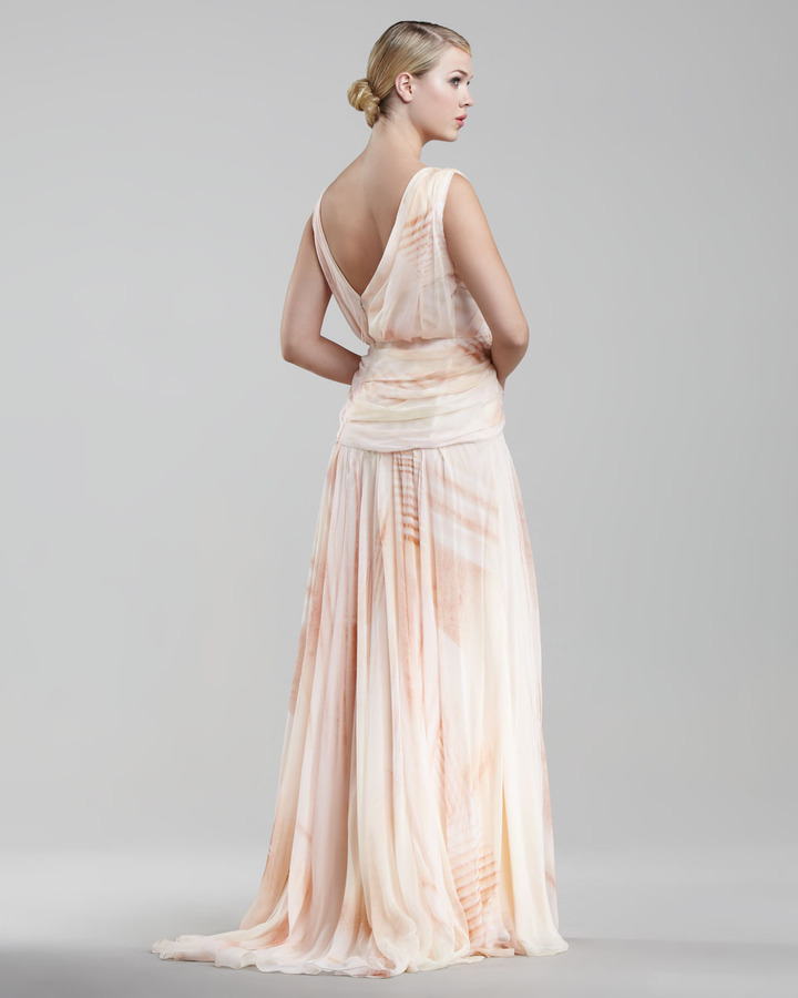 J. Mendel Mousseline Asymmetric Gown