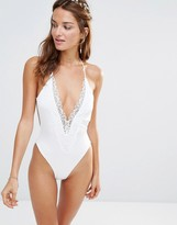 Blue Life Bridal Mirage Textured Swimsuit