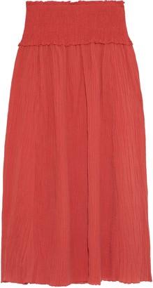 Zimmermann Veneto Shirred Ramie And Cotton-blend Gauze Maxi Skirt