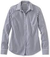 L.L. Bean L.L.Bean Signature Essential Button-Front Shirt, Stripe