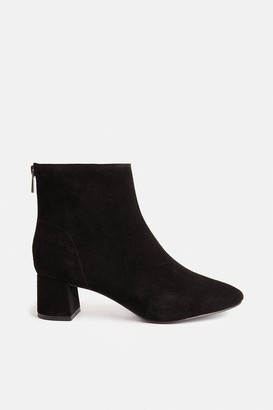 Coast Low Block Suede Heeled Ankle Boots