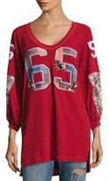 Free People Varsity Sweatshirt Tunic