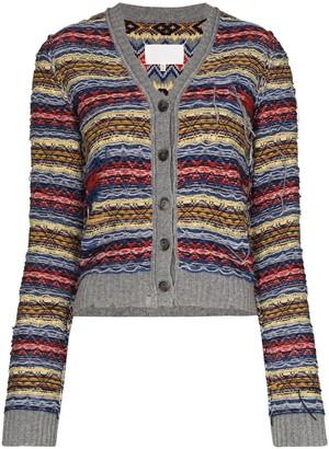 Maison Margiela Fair Isle Reverse-Knit Cardigan