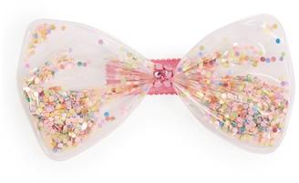 Bari Lynn Confetti Clear Bow Clip