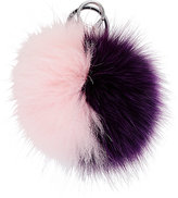 Adrienne Landau Fur Pom-Pom Key Chain-PINK