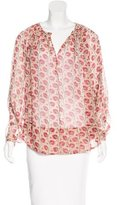 Tamara Mellon Silk Printed Blouse w/ Tags