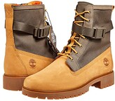 Timberland Jayne Fabric and Leather Waterproof Side Zip Boot (Wheat Nubuck) Women's Lace-up Boots