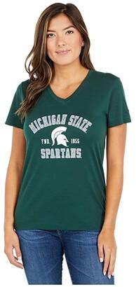 Champion College Michigan State Spartans University 2.0 V-Neck T-Shirt (Dark Green) Women's Clothing