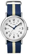 Timex Weekender Slip Thru Nylon Strap Watch - Blue/Yellow T2P142JT