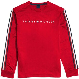 Tommy Hilfiger Men's Adaptive Long Sleeve T Shirt with Magnetic Buttons at Shoulders