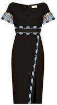Peter Pilotto Lace-trim cady dress