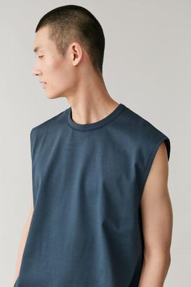 Cos Sleeveless Cotton T-Shirt