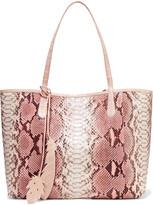 Nancy Gonzalez Crocodile-trimmed Python Tote - Pink