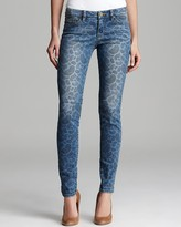 MICHAEL Michael Kors Contrast Paisley Skinny Jeans