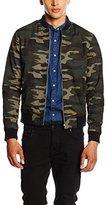 New Look Men's Camo Varsity Long Sleeve Jacket