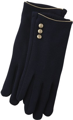 Tickled Pink Accessorie's Winter Classic Gloves with Button Detail
