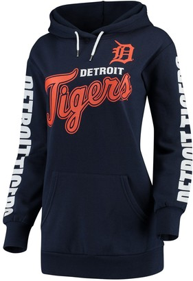 G Iii Women's G-III 4Her by Carl Banks Navy Detroit Tigers Extra Innings Pullover Hoodie