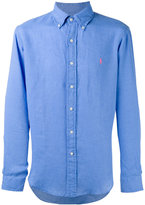 Polo Ralph Lauren plain shirt - men - Linen/Flax - M