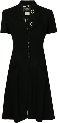 Chanel Pre Owned Flared Button-Up Dress