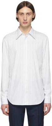 Maison Margiela White and Black Poplin Striped Shirt