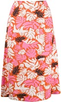Marni eyed leaves print skirt