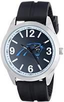 Game Time Men's NFL-VAR-CAR Varsity Analog Display Japanese Quartz Black Watch